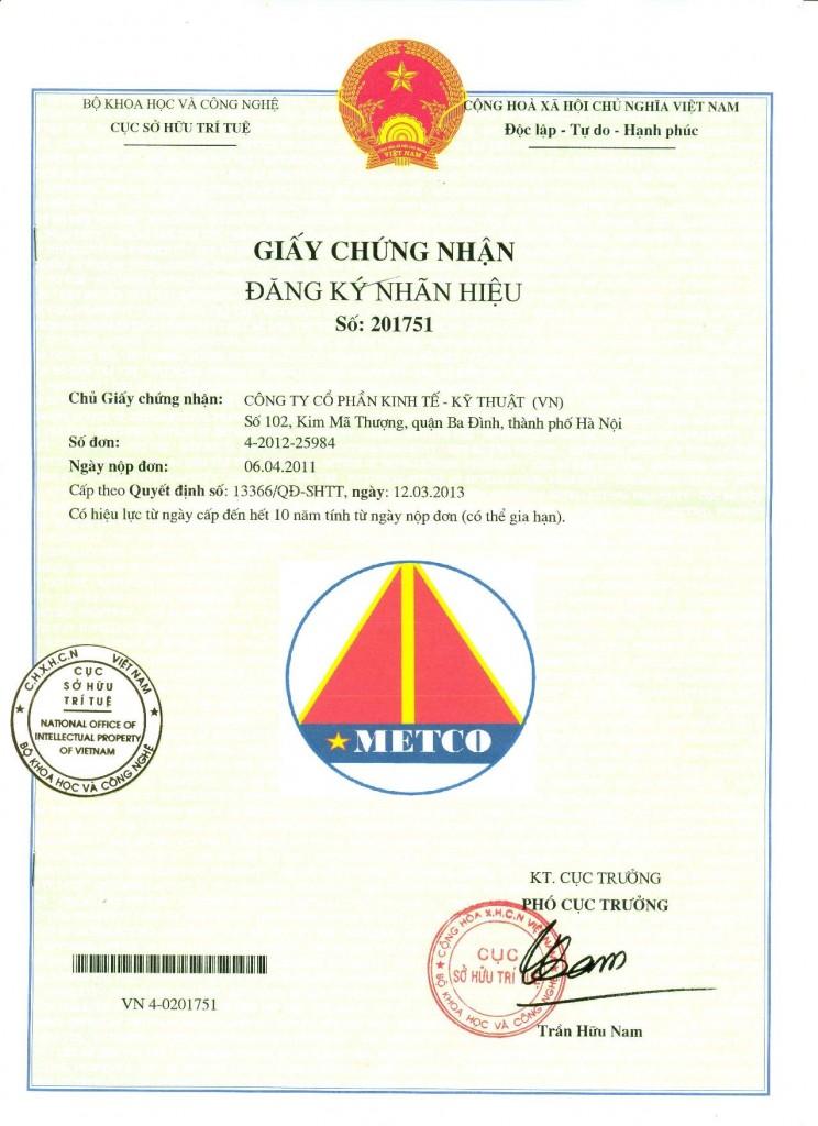 giấy chứng nhận nhãn hiệu hàng hóa