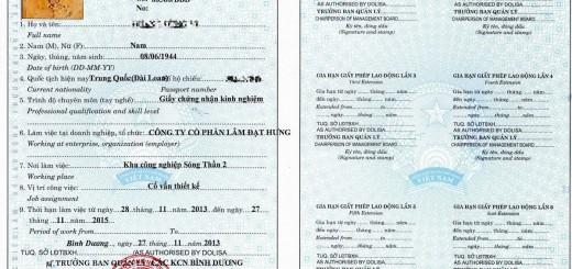 giấy phép lao động đồng nai