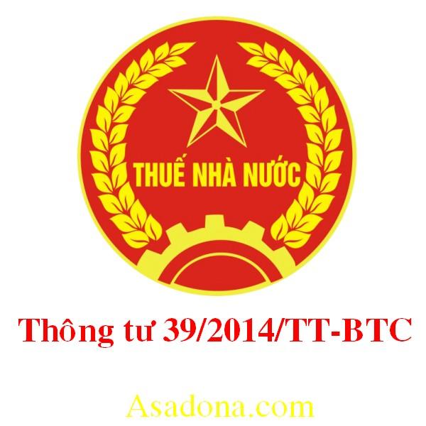 thong tu 39-2014-tt-btc