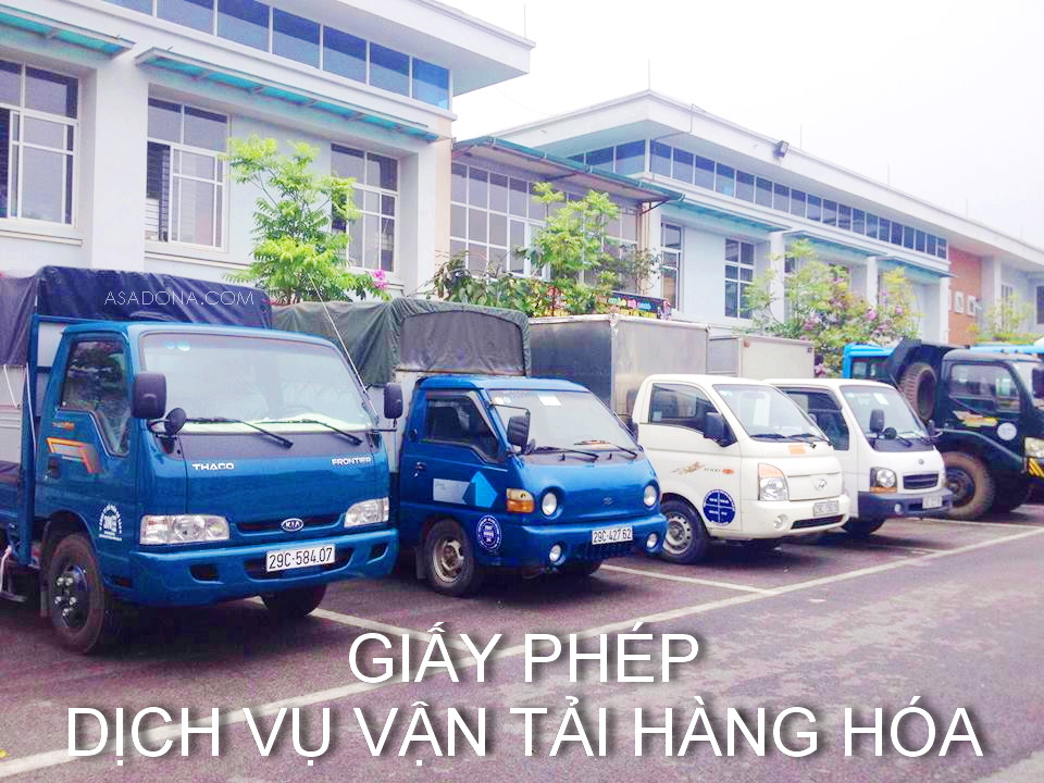 Giấy phép kinh doanh vận tải hàng hóa bằng ô tô